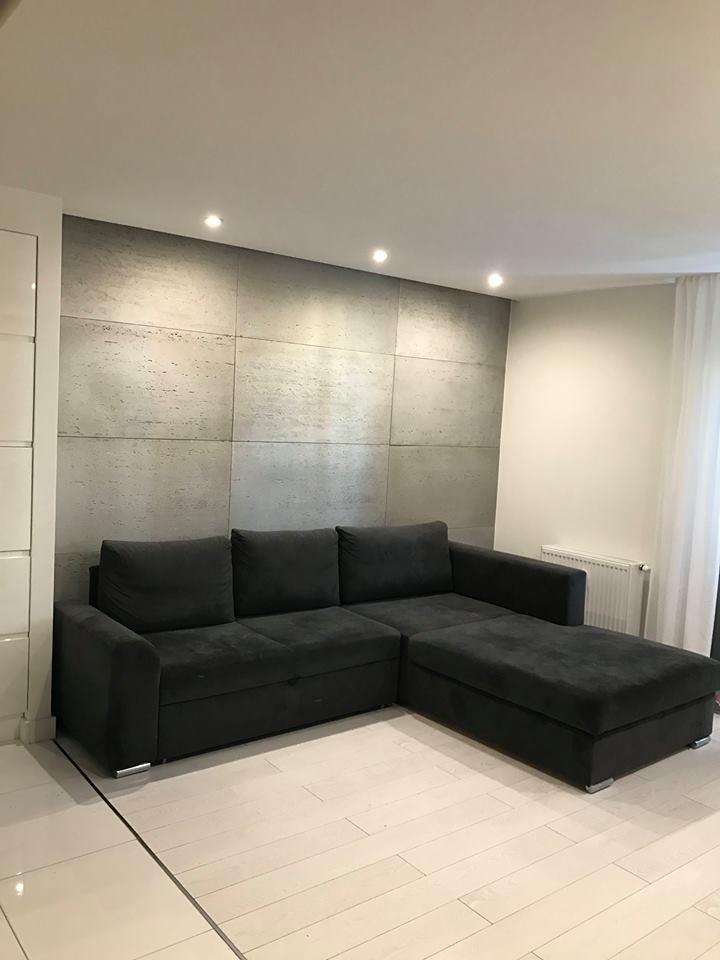 beton architektoniczny na ścianie