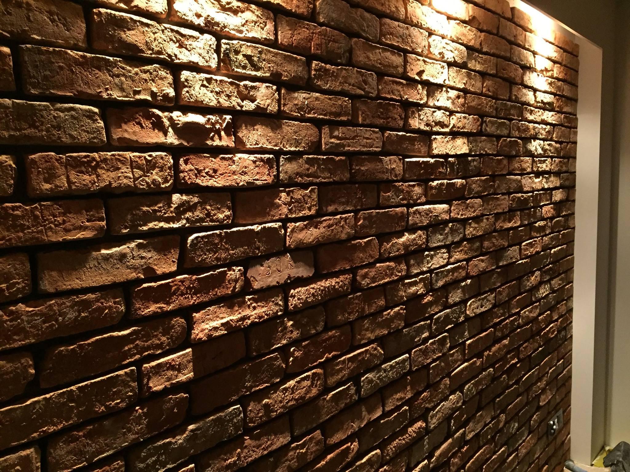 ściana cegły lico klasyczne