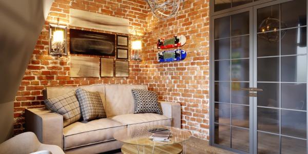 5 pomysłów na ciekawą aranżację wnętrza z ceglaną ścianą