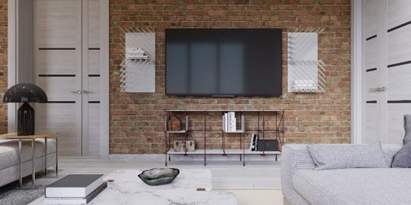 Jak wykonać ceglaną dekorację na ścianie w salonie?
